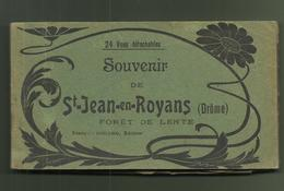 CARNET CARTES POSTALES 26 DROME SOUVENIR DE ST JEAN EN ROYANS FORET DE LENTE - France