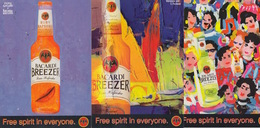 "PUBBLICITA'  ADVERTISING - 3 CARTOLINE PROMOCARD ""BACARDI BREEZER""  - N°3722-3758-3761 - Pubblicitari"