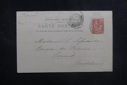 FRANCE - Oblitération Maritime Sur Type Mouchon Sur Carte Postale ( Bateau ) En 1901 Pour Lorient - L 40783 - Postmark Collection (Covers)