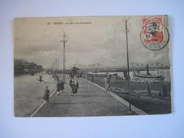 CPA INDOCHINE - VIETNAM / HANOI - Le Quai Du Commerce  1913 TBE Mais Reste Que L'image - Viêt-Nam