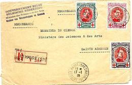 LE 0147. N° 132/134 LE HÂVRE (SPECIAL) 17.I.15 + GRIFFE Gvt Belge/Ministre Des Sciences Et Des Arts S:L. RECOMMANDEE V. - WW I