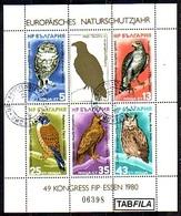 BULGARIE - 1980 - Europe - Anne Europeenne De La Protection De La Naturee - Aigles - Bl - S/S (O) - Blokken & Velletjes