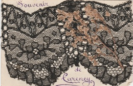 62--CARENCY--CORRESPONDANCE MILITAIRE--SOUVENIR AVEC DENTELLE NOIRE--VOIR LES 2 SCAN - France