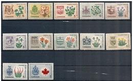 Canada: Fiori E Stemmi Diversi, Fleurs Et Armoiries, Flowers And Different Coats Of Arms - Francobolli