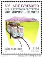 REPUBBLICA DI SAN MARINO - ANNO 2012 - FERROVIA ELETTRICA  - NUOVI MNH ** - Nuovi