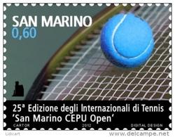 REPUBBLICA DI SAN MARINO - ANNO 2012 - SPORT INTERNAZIONALI DI TENNIS  - NUOVI MNH ** - Nuovi