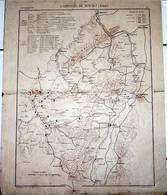 CARTE HISTORIQUE MILITAIRE - 2éme EMPIRE -CAMPAGNE DE 1870-1871(Débuts)-Arm. Francaise 270000 H./Arm. Allemande 480000h. - Cartes