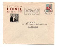 LETTRE A EN TETE DE LE HAVRE 1966 - Marcophilie (Lettres)