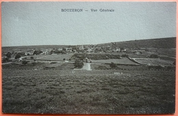 CARTE BOUZERON - 71 - VUE GENERALE -SCANS RECTO VERSO-12 - France