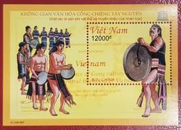 VIETNAM VIET NAM 2007 - UNESCO MUSIC INSTRUMENTS DANSE DANCE DANCING - RARE BLOC BLOCK SOUVENIR SHEET MNH - Tanz