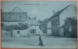 CARTE MARSANNAY LE BOIS - 21 - LA PLACE -SCANS RECTO VERSO-12 - Autres Communes