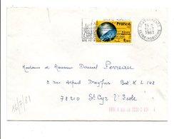 N° 2128 SEUL SUR LETTRE DE SAINTE ADRESSE 1981 - Marcophilie (Lettres)