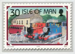 ISLE  OF  MAN    OWEN  BELL       TRAIN  ZUG  TREIN  TRENI  GARE  BAHNHOF  STATION  STAZIONI  2 SCAN (NUOVA) - Treni