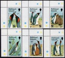 Falkland Islands - 1991 - WWF - King Penguins - Mint Stamp Set - Falklandeilanden