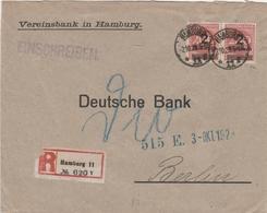 Allemagne Lettre Recommandée Inflation Hamburg 1923 - Lettres & Documents