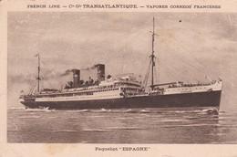 """Paquebot  """" ESPAGNE  """" Cie Gale Transatlantique - Paquebots"""