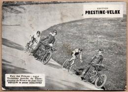 Vieux Papiers > Publicités Colle Prestine Velox Parc Des Princes 1931 Manche Demi Fond Grassin / Souchard - Publicités