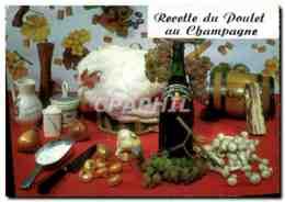 CPM Recette Du Poulet Au Champagne - Folklore
