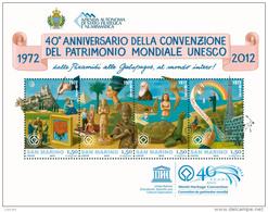 REPUBBLICA DI SAN MARINO - ANNO 2012 - BF UNESCO - NUOVI MNH ** - Nuovi