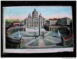 STATO CITTÀ DEL VATICANO - ( ROMA  ) PIAZZA E COLONNATO DI SAN PIETRO   - VIAGGIATA REGNO 1901 - Vaticano