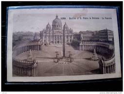 STATO CITTÀ DEL VATICANO - ( ROMA  ) BASILICA DI SAN PIETRO IN VATICANO LA FACCIATA  - VIAGGIATA REGNO 1914 - Vaticano