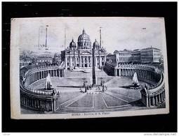 STATO CITTÀ DEL VATICANO - ( ROMA  ) BASILICA DI SAN PIETRO - TIMBRO A TARGHETTA TORINO 1928 ESPOSIZIONE - Vaticano