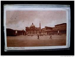 STATO CITTÀ DEL VATICANO - ( ROMA  ) PIAZZA SAN PIETRO - TIMBRO A TARGHETTA LOTTERIA AUTOMOBILISTICA DI TRIPOLI - Vaticano