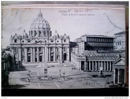 STATO CITTÀ DEL VATICANO - ( ROMA  ) SAN PIETRO E BASILICA VATICANA - VIAGGIATA REGNO 1905 TIMBRO DI ARRIVO ANVERS - Vaticano