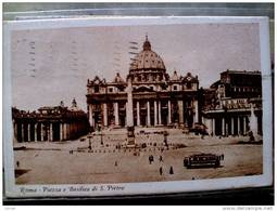 STATO CITTÀ DEL VATICANO - ( ROMA  ) PIAZZA E BASILICA DI SAN PIETRO ANIMATA - VIAGGIATA REGNO 1930 - Vaticano