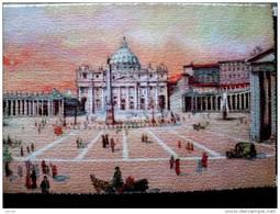STATO CITTÀ DEL VATICANO - ( ROMA  ) SAN PIETRO ANIMATA - VIAGGIATA REGNO Con FRANCOBOLLO ANNO SANTO 1925 - Vaticano