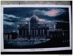 STATO CITTÀ DEL VATICANO - ( ROMA  ) SAN PIETRO NOTTURNO - TIMBRO A TARGHETTA SPAZIO RISERVATO ALLA  PUBBLICITÀ - Vaticano