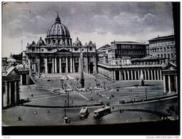 STATO CITTÀ DEL VATICANO - ( ROMA  ) PIAZZA SAN PIETRO E LA BASILICA - VIAGGIATA REPUBBLICA 1952 - Vaticano