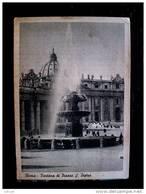 STATO CITTÀ DEL VATICANO - ( ROMA  ) FONTANA DI PIAZZA SAN PIETRO - TIMBRO A TARGHETTA LA LOTTERIA DI MERANO - Vaticano