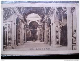 STATO CITTÀ DEL VATICANO - ( ROMA  ) INTERNO BASILICA DI SAN PIETRO - VIAGGIATA REGNO 1916 - Vaticano