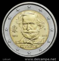 ITALIA -  ITALY - 2 EURO ANNO 2013 - MUSICISTA GIUSEPPE VERDI - FIOR DI CONIO PROVENIENTE DA ROTOLINO - Italia