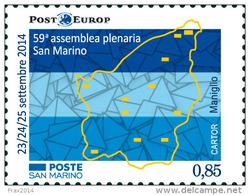 REPUBBLICA DI SAN MARINO -  ANNO 2014  - ASSEMBLEA PLENARIA POST EUROP - NUOVI  MNH ** - Nuovi