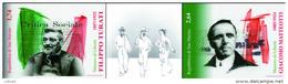 REPUBBLICA DI SAN MARINO - ANNO 2012 - STRISCIA MAESTRI DI LIBERTÀ GIACOMO MATTEOTTI FILIPPO TURATI  - NUOVI MNH ** - Nuovi