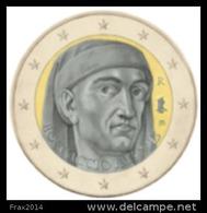 ITALIA 2013 - ITALY - 2 EURO COMMEMORATIVO ANNIVERSARIO GIOVANNI BOCCACCIO - FIOR DI CONIO PROVENIENTE DA ROTOLINO - Italia
