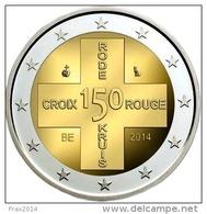 BELGIO 2014 - BELGIQUE - 2 EURO COMMEMORATIVO 150 ANNIVERSARIO CROCE ROSSA FIOR DI CONIO - Belgio