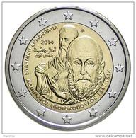 GRECIA 2014 - GREECE - 2 EURO COMMEMORATIVO EL GRECO FIOR DI CONIO PROVENIENTE DA ROTOLINO - Grecia