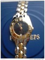 PRYNGEPS EXECUTIVE MOD 736 - OROLOGIO DONNA  DATARIO QUADRANTE NERO - ORO 18 KT CASSA MM 20 MOVIMENTO QUARZO ETA - Orologi Da Polso