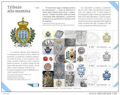REPUBBLICA DI SAN MARINO - ANNO 2012 - BF TRIBUTO ALLO STEMMA   - NUOVI MNH ** - Nuovi