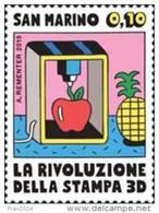REPUBBLICA DI SAN MARINO - ANNO 2015 - RIVOLUZIONE STAMPA 3D - NUOVI MNH ** - Nuovi