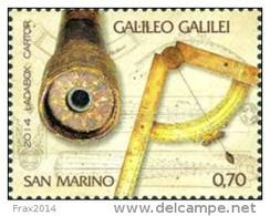 REPUBBLICA DI SAN MARINO - ANNO 2014 - FISICO ANNIVERSARIO DELLA NASCITA DI GALILEO GALILEI  - NUOVI MNH ** - Nuovi