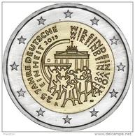 GERMANIA 2015 - GERMANY 2 EURO COMMEMORATIVO RIUNIFICAZIONE - FIOR DI CONIO PROVENIENTE DA ROTOLINO - Duitsland