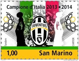 REPUBBLICA DI SAN MARINO -  ANNO 2014  - SPORT CALCIO JUVENTUS CAMPIONE - NUOVI  MNH ** - Nuovi