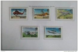 ALDERNEY  ANNO  1985 - CINQUANTENARIO AEROPORTO ALDERNEY  -  NUOVI MNH ** - Alderney