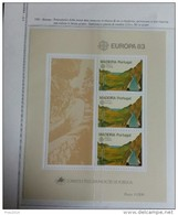 PORTOGALLO ( MADEIRA ) ANNO 1983  BF EUROPA GRANDI PROGETTI -  NUOVI MNH ** - Madeira