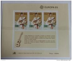 PORTOGALLO ( MADEIRA ) ANNO 1985 BF EUROPA ANNO DELLA MUSICA  NUOVI MNH ** - Madeira