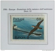 PORTOGALLO ( MADEIRA ) ANNO 1986 EUROPA PROTEZIONE DELLA NATURA E DELL' AMBIENTE - NUOVI MNH ** - Madeira